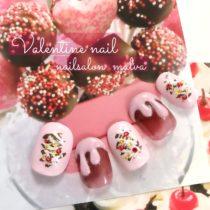 バレンタインネイル011